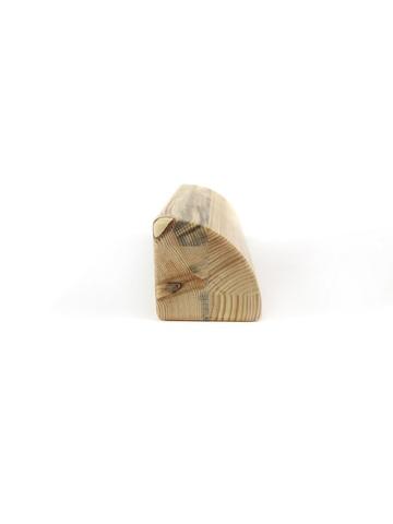 Кирпич для йоги полукруглый деревянный лак