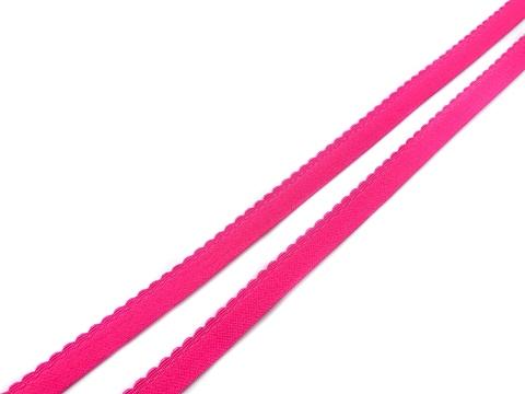 Резинка отделочная розовый неон 12 мм