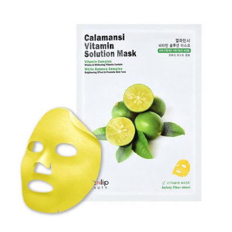 Маска для лица тканевая витаминная CALAMANSI VITAMIN SOLUTION MASK 25мл