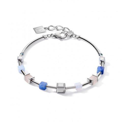 Браслет Blue-Beige 5059/30-0710 цвет бежевый, белый, синий, серебряный