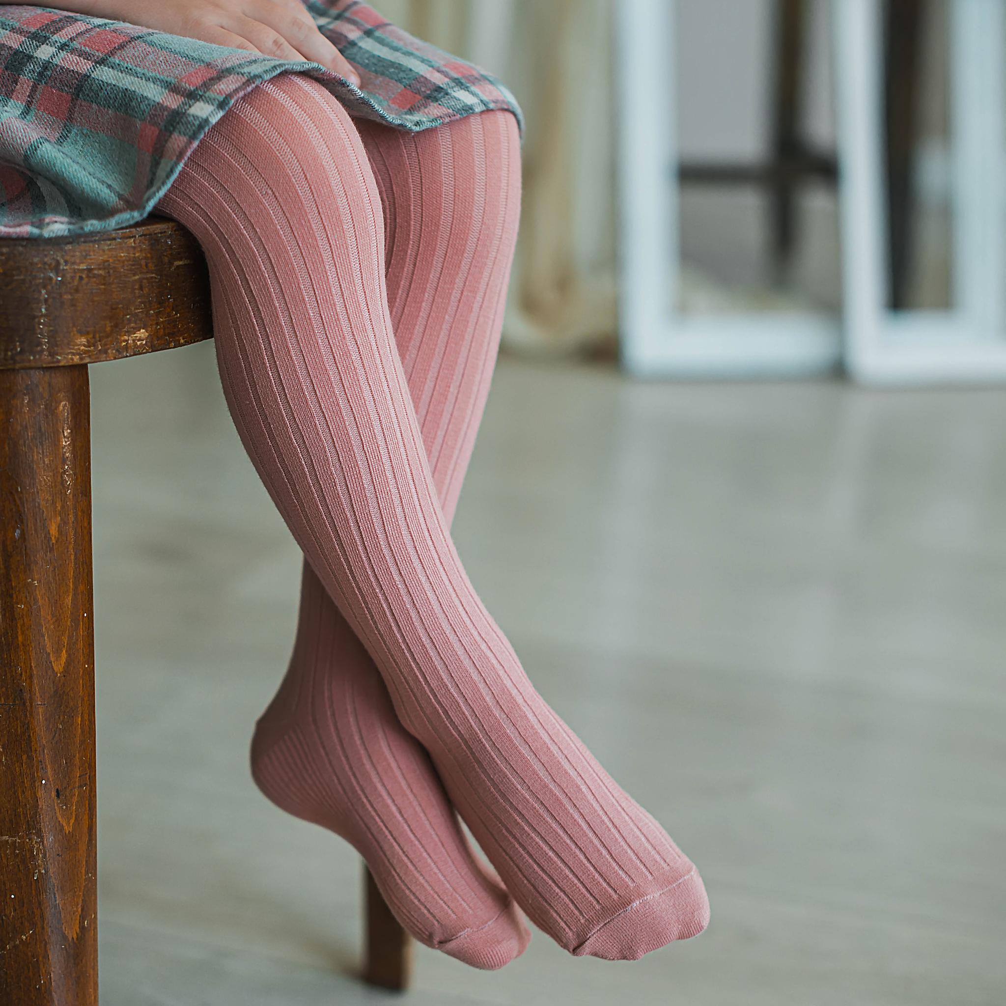 Ribbed tights - Blush