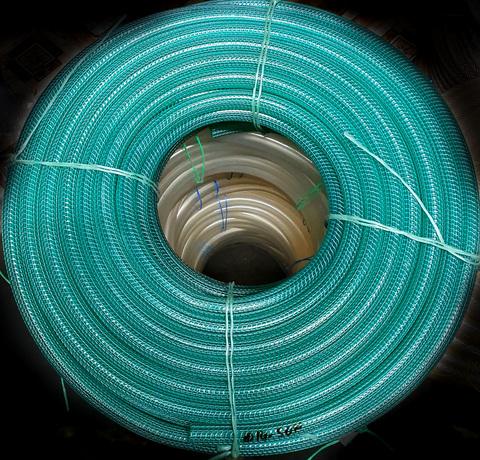 Шланг Ø 12мм армированный усиленный (вязаный) прозрачный силиконовый толщина стенки 4 мм (100 м в бухте)