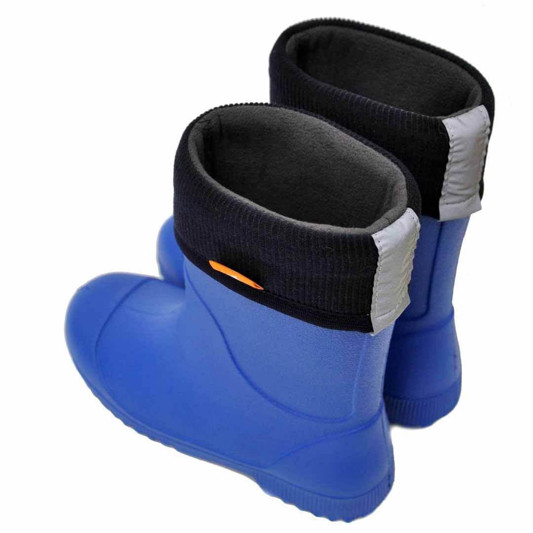 Детские резиновые сапоги из ЭВА Nordman Jet Синие с флисовым утеплителем