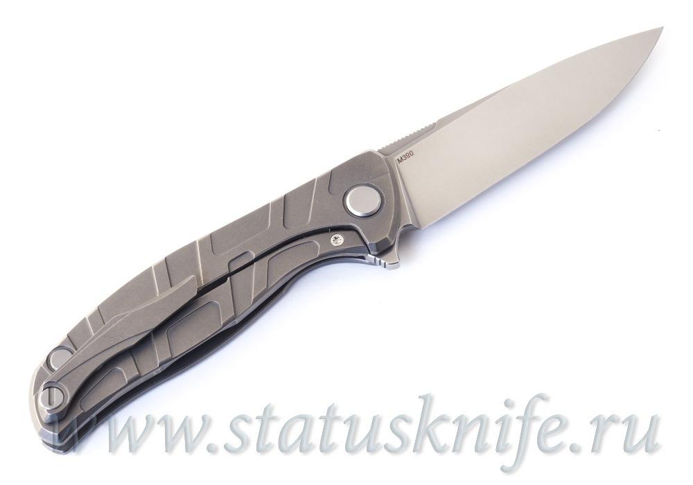 Нож Широгоров Flipper 95 М390 S Т узор подшипники - фотография
