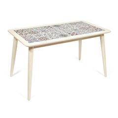 Стол с плиткой CT3052 Tanger (Тёмный Дуб, рисунок - марокко)