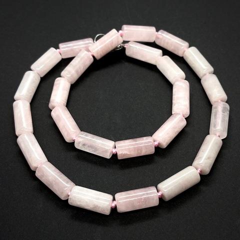 Розовый кварц цилиндр 17х8 мм 1 бусина
