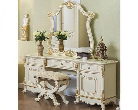 Стол туалетный  МОНА ЛИЗА  с пуфом и зеркалом