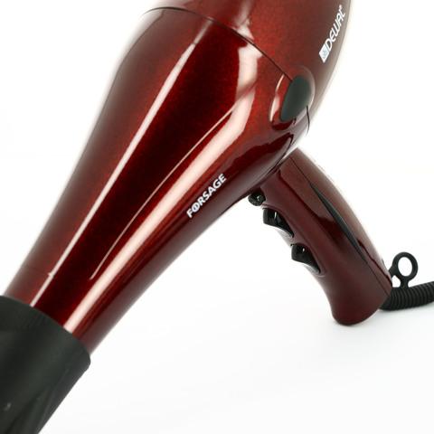 Фен Dewal Forsage, 2200 Вт, ионизация , 2 насадки, красный