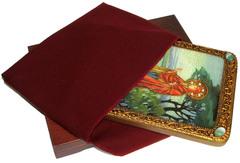 Инкрустированная икона Святая праматерь Ева 29х21см на натуральном дереве, в подарочной коробке
