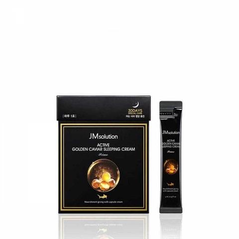 JMsolution Active Golden Caviar Sleeping Cream Prime ночная маска с золотом и икрой
