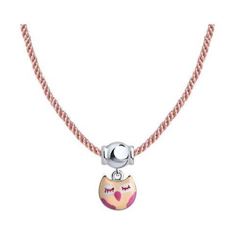 94070435 - Колье для девочки из серебра с подвеской