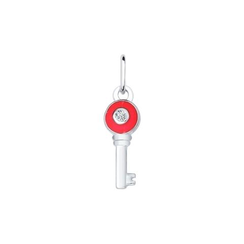 94031497- Подвеска ключик из серебра с эмалью