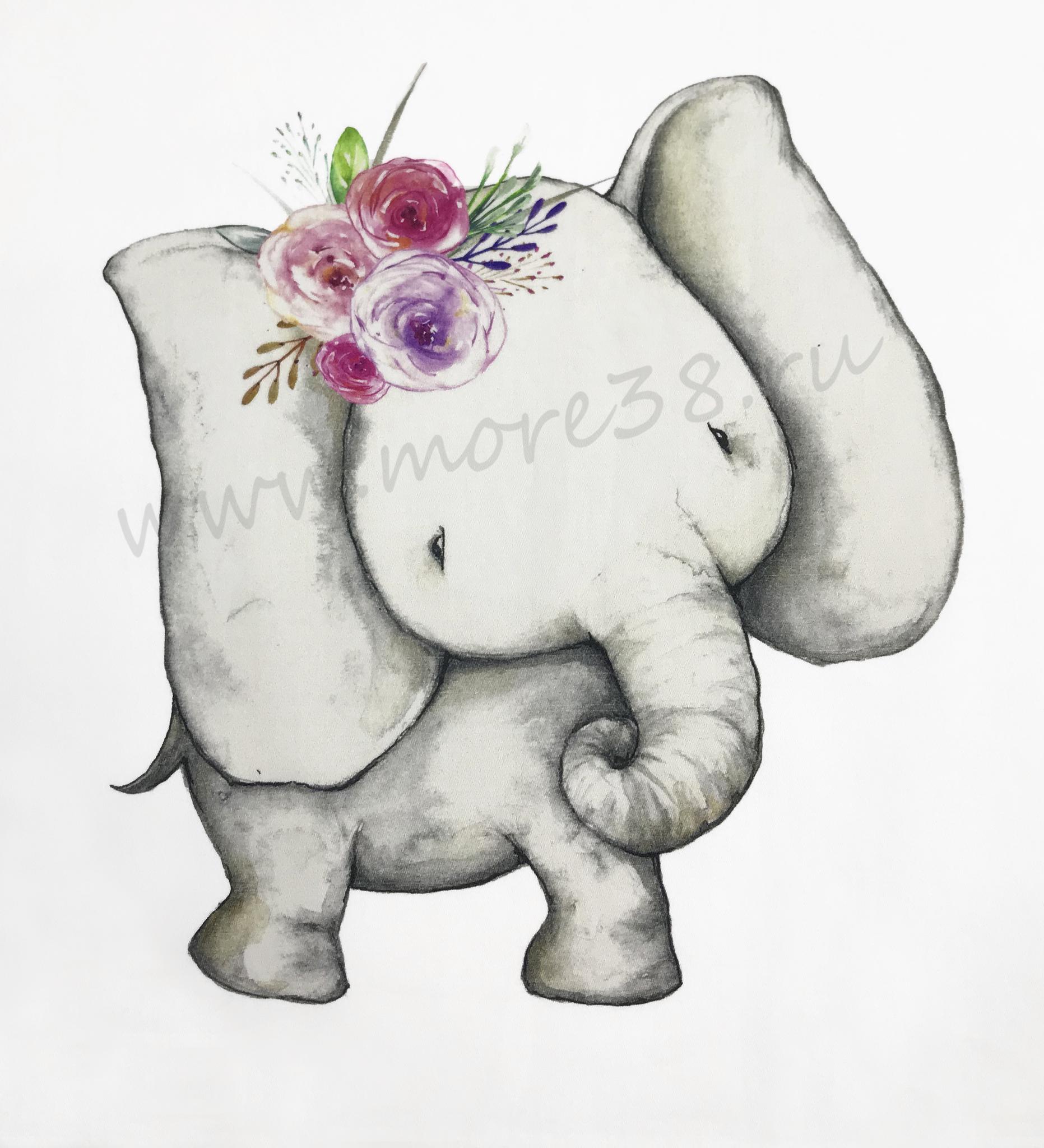 Панель(купон) слоники -35*35 см, 4 шт.
