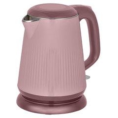 Чайник электрический 2200 Вт, 1,8 л АКСИНЬЯ КС-1030, двухслойный корпус, розово-коричневый