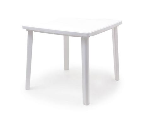 Пластиковый квадратный стол белый