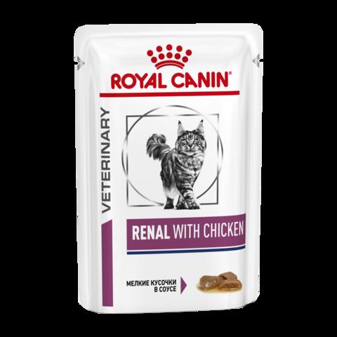 Royal Canin Renal S/O Консервы для кошек с хронической почечной недостаточностью с курицей