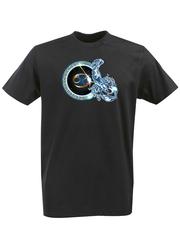 Футболка с принтом Знаки Зодиака, Рак (Гороскоп, horoscope) черная 004