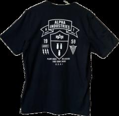 Футболка Alpha Industries Back А Logo Black  (Черная)