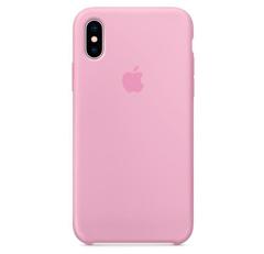 Чехол силиконовый для iPhone XS Max (Розовый)