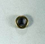 Кольцо неразъемное, 4x0,8 мм, позолоченное античное, 5 шт.