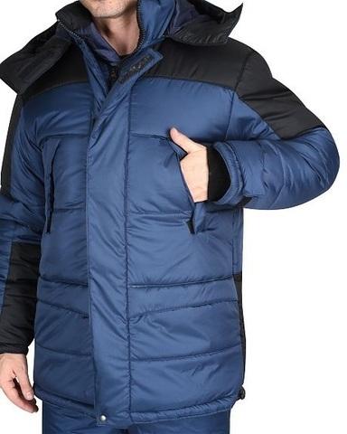 Костюм Синий с черным  куртка, брюки