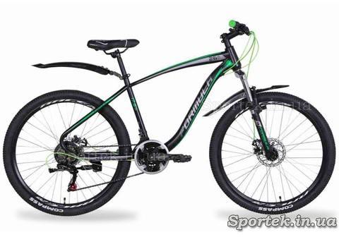 Горный мужской велосипед Formula Kozak AM DD 2021 - черно-серый с зеленым