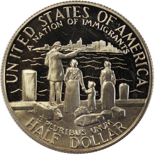 1/2 доллар 1986 (S). США Proof (Нация иммигрантов). Медь с плакировкой