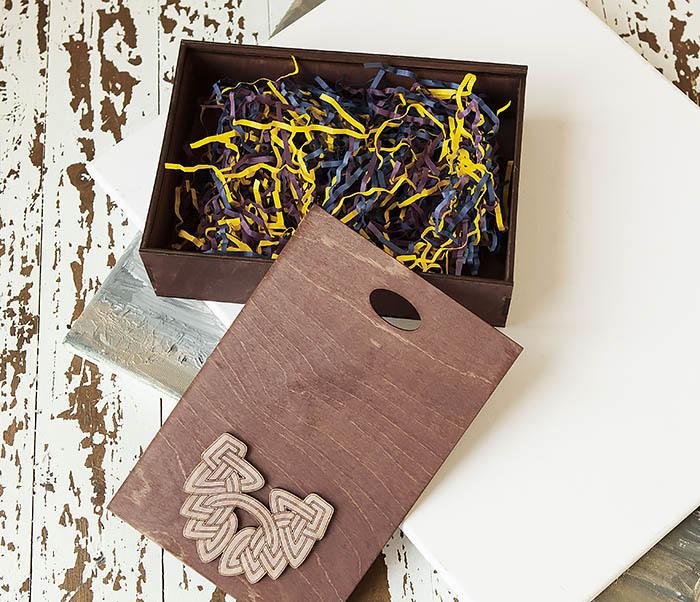 BOX230-3 Большая фиолетовая коробка для упаковки подарков (18*26*7,5 см) фото 06