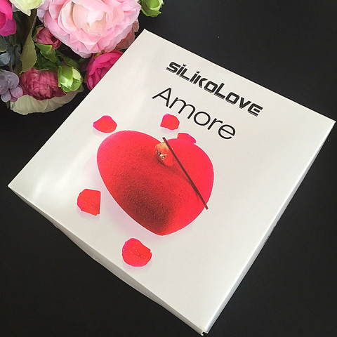 Силиконовая форма для выпечки Сердце AMORE - торт (13х14х5см.   объём 600мл.)