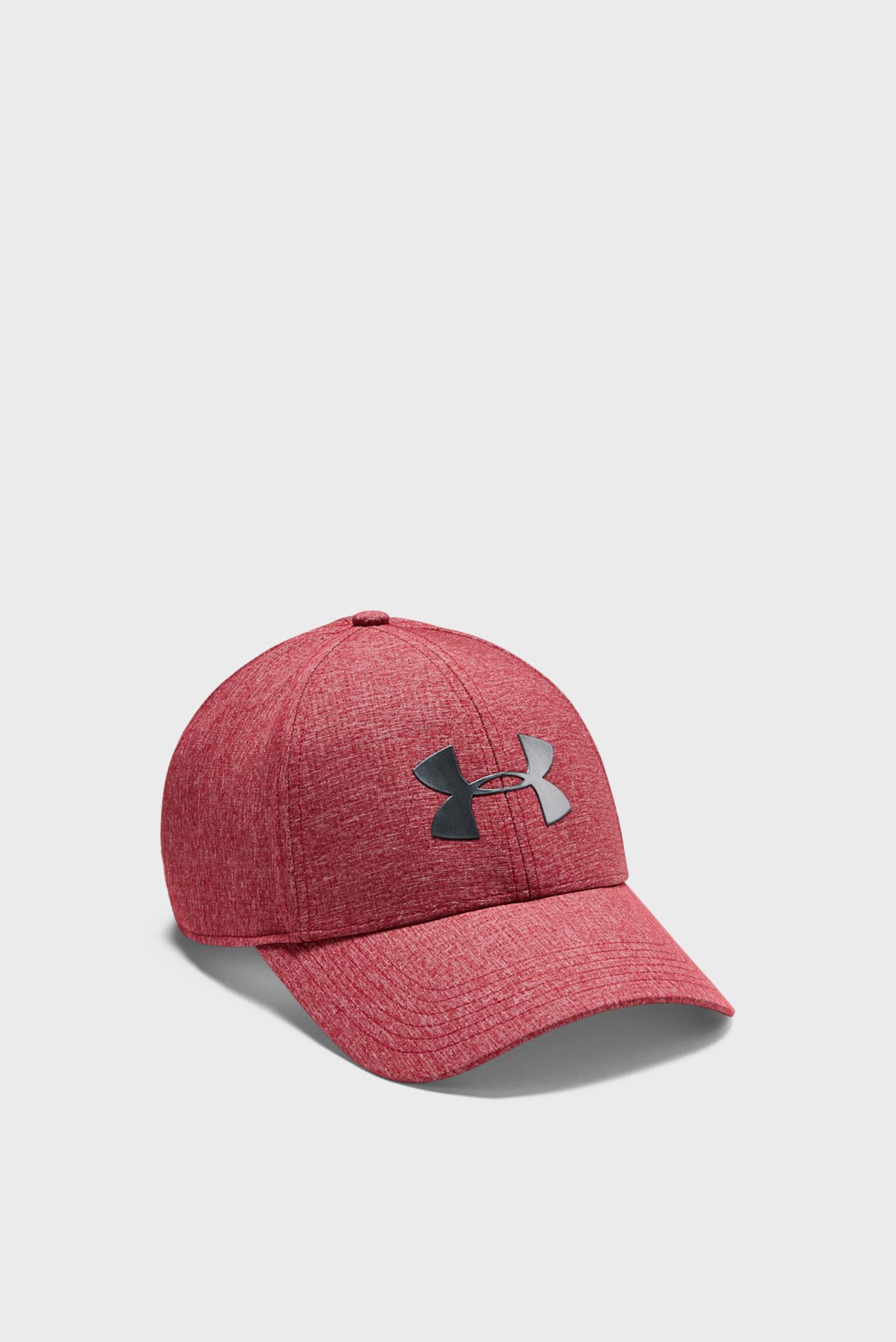 Мужская красная кепка UA Adjustable Airvent Cool Cap-RED Under Armour