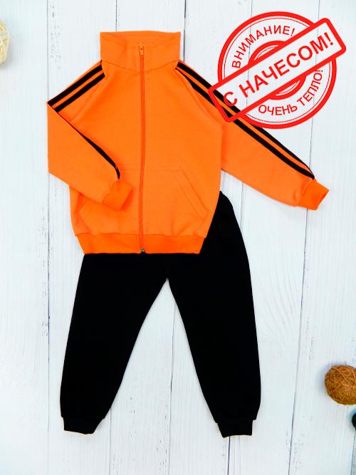 Костюм теплый 3061н, оранжево-черный