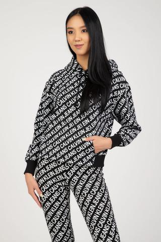 Женское худи Calvin Klein AOP LOGO HOODIE