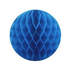Бумажный Шар-соты 30 см Синий