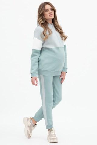 Утепленный спортивный костюм для беременных и кормящих 11955 мята-ст