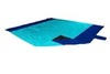 Картинка пляжное покрывало Ticket to the Moon Beach Blanket Turquoise/Royal Blue - 1