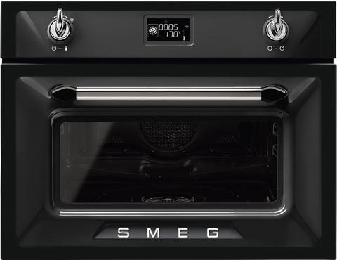 Компактный духовой шкаф Smeg SF4920VCN1 комбинированный с пароваркой