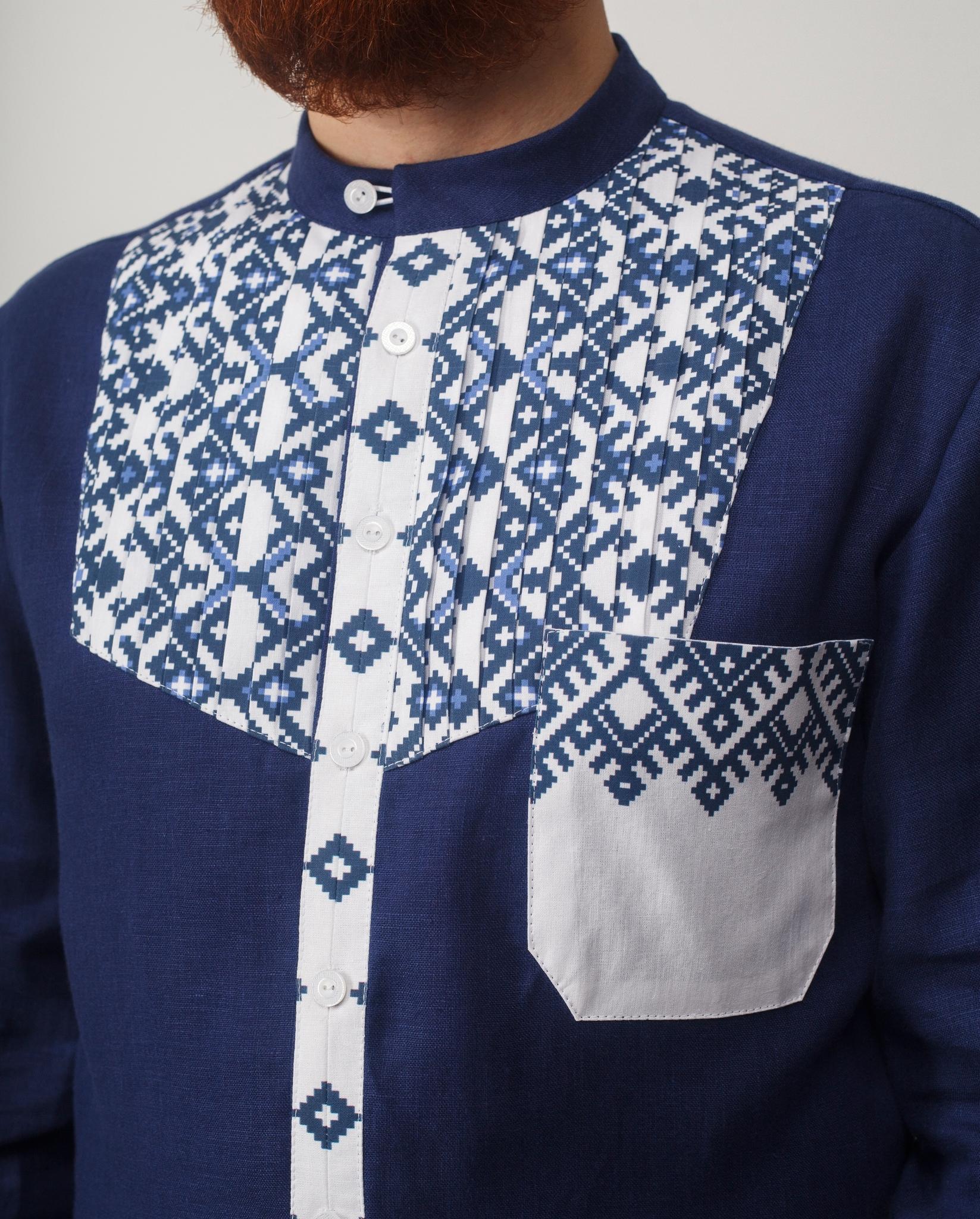 Мужская рубашка Приморская Приближенный фрагмент