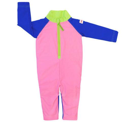 Детский плавательный костюм, plain pink/blue/green, 86-92 см./ 1-2 г.