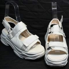 Женские сандали на липучках Small Swan PM23-3 White.