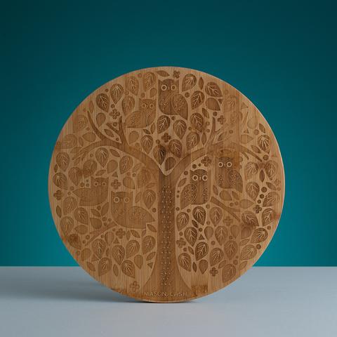 Доска сервировочная In the Forest круглая, бамбук, 32 см