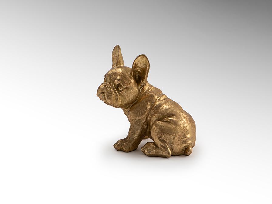 Фигурка маленькая Bull Frances золото - вид 1