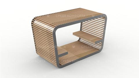 Скамейка с навесом SCAM0090