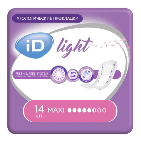 iD Light Maxi. Послеродовые прокладки 14 шт.