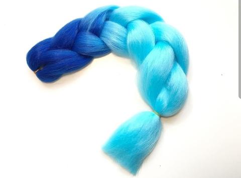 Канекалон B21 (омбре из синего в голубой)