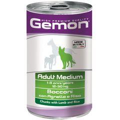 Консервы для собак Gemon Dog Medium кусочки ягненка с рисом