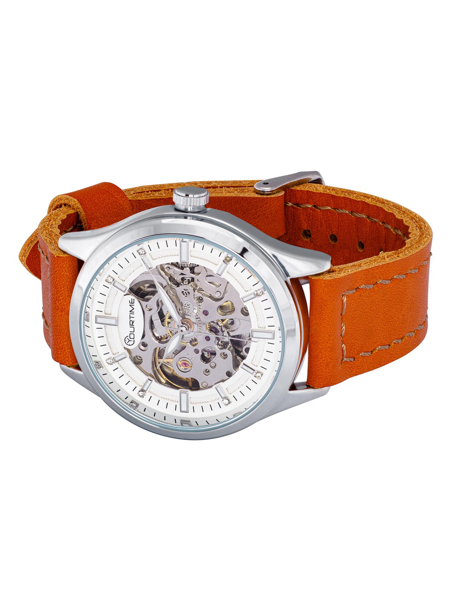 Часы скелетоны женские механические Mandarin YOURTIME