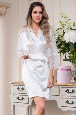 Короткий атласный халат Mia Amore Christina