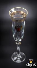 Подарочный набор из 6 хрустальных фужеров для шампанского «Министерский», 190 мл, фото 3
