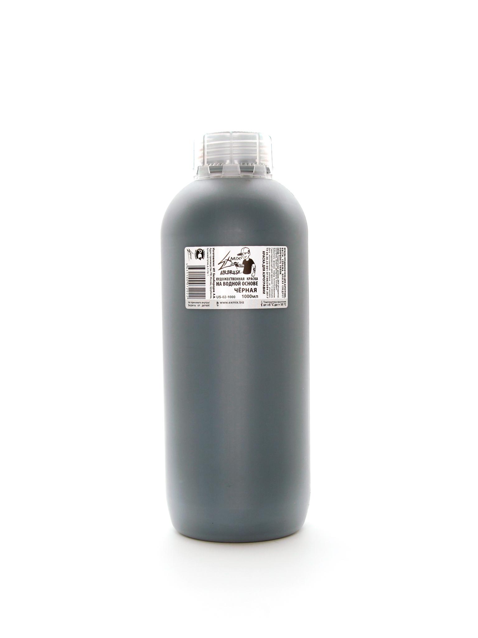 Краска Exmix Краска укрывистая Exmix 02 Черный 1000 мл US-02-1000.jpg