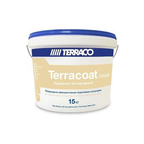 Terraco Terracoat Micro Interior/Террако Терракоат Интерьерный Микро декоративное покрытие на акриловой основе с  мелкой текстурой типа «шагрень»